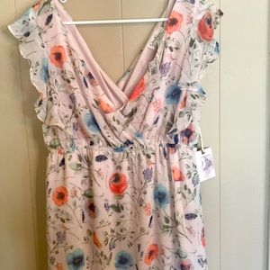 NWT Jessica Simpson Size L Flower Dress